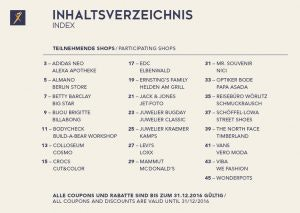 VIP Shopping Booklet  2016 Teilnehmende Shops